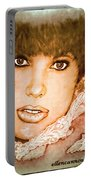 Brown Eyed Brunette Portable Battery Charger