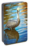 Brown Pelican Along The Bayou Portable Battery Charger