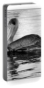 Brown Pelican - Black And White Portable Battery Charger