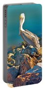 Brown Pelican In San Carlos-sonora Portable Battery Charger