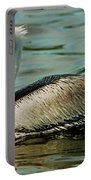 Brown Pelican Swimming Portable Battery Charger