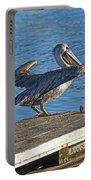 Brown Pelican Takes Flight Portable Battery Charger