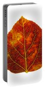 Brown Red And Yellow Aspen Leaf 1 Portable Battery Charger