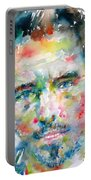 Bruce Springsteen Watercolor Portrait.1 Portable Battery Charger by Fabrizio Cassetta