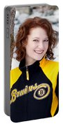 Bruins Girl Portable Battery Charger