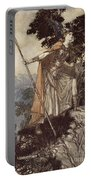 Brunnhilde From The Rhinegold And The Valkyrie Portable Battery Charger by Arthur Rackham