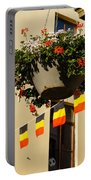 Brussels Belgium - Flowers Flags Football Portable Battery Charger
