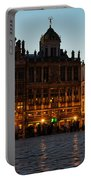 Brussels - Grand Place Facades Golden Glow Portable Battery Charger