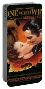 Brussels Griffon Art - Gone With The Wind Movie Poster Portable Battery Charger