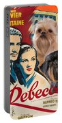 Brussels Griffon Art - Rebecca Movie Poster Portable Battery Charger