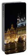 Brussels - The Magnificent Grand Place At Night Portable Battery Charger