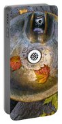 Bryant Park Fountain In Autumn Portable Battery Charger
