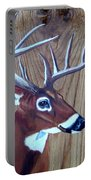 Buck Deer On Rustic Wood Portable Battery Charger