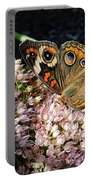 Buckeye Butterfly On Sedum Portable Battery Charger