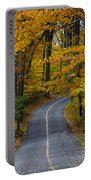 Bucks County Road In Autumn Portable Battery Charger