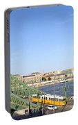 Budapest Cityscape And Liberty Bridge Portable Battery Charger