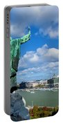 Budapest. View From Gellert Hill Portable Battery Charger by Michal Bednarek