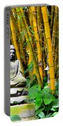 Buddha In The Bamboo Forest Portable Battery Charger