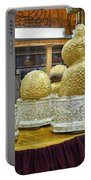 Buddha Figures With Thick Layer Of Gold Leaf In Phaung Daw U Pagoda Myanmar Portable Battery Charger