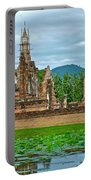 Buddhas At Wat Mahathat In 13th Century Sukhothai Historical Park-thailand Portable Battery Charger