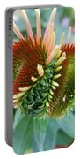 Budding Coneflower Portable Battery Charger