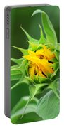 Budding Sunflower Portable Battery Charger