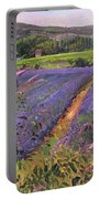 Buddleia And Lavender Field Montclus Portable Battery Charger