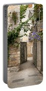 Budva Old Town Cobbled Street In Montenegro Portable Battery Charger