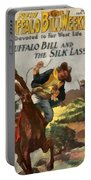 Buffalo Bill And The Silk Lasso Portable Battery Charger by Dime Novel Collection