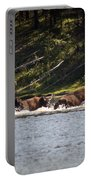 Buffalo Crossing - Yellowstone National Park - Wyoming Portable Battery Charger