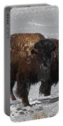 Buffalo In Snow Portable Battery Charger