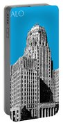 Buffalo New York Skyline 1 - Ice Blue Portable Battery Charger