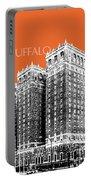 Buffalo New York Skyline 2 - Coral Portable Battery Charger