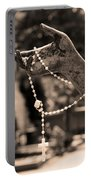 Buiatti Memorial Marker Detail Monumental Cemetery Sepia Portable Battery Charger