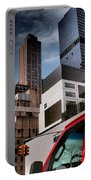 Tribute To Leger 3 - Building Blocks - Architecture Of New York City Portable Battery Charger