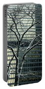 Building Reflection And Tree Portable Battery Charger