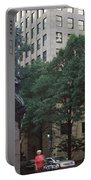 Buildings In A City, Trade And Tryon Portable Battery Charger