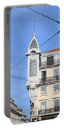 Buildings In The Chiado Neighbourhood Of Lisbon Portable Battery Charger