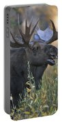 Bull Moose Calling Portable Battery Charger by Gary Langley