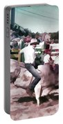 Bull Rider Digital Art  By Cathy Anderson Portable Battery Charger