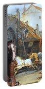 Bull Terrier Art Canvas Print Portable Battery Charger