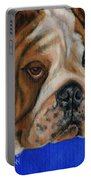 Beautiful Bulldog Oil Painting Portable Battery Charger