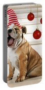 Holiday Bulldog Puppy  Portable Battery Charger