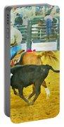 Bulldoggin Cowboys Portable Battery Charger