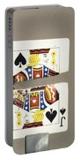 Bullet Piercing Playing Card Portable Battery Charger by Gary S. Settles