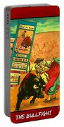 Bullfight Poster Portable Battery Charger