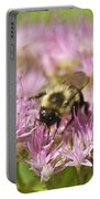 Bumble Bee On A Century Plant Portable Battery Charger