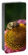 bumblebee and Echinacea Portable Battery Charger