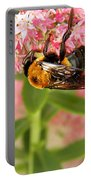 Bumblebee Clinging To Sedum Portable Battery Charger