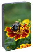 Bumblebee On Marigold Portable Battery Charger